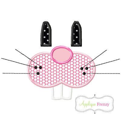 Bunny Face Features Applique Design-