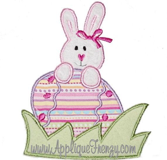 Bunny Found the Egg Applique Design-