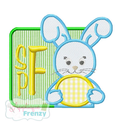Bunny in a Box Applique Design-BUNNy, easter, applique cafe, planet applique, rabbit, eggs, egg hunt, spring