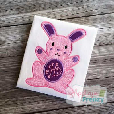 Bunny with Blank Belly for MOnograms Applique Design-easter, bunny, rabbit, jelly beans