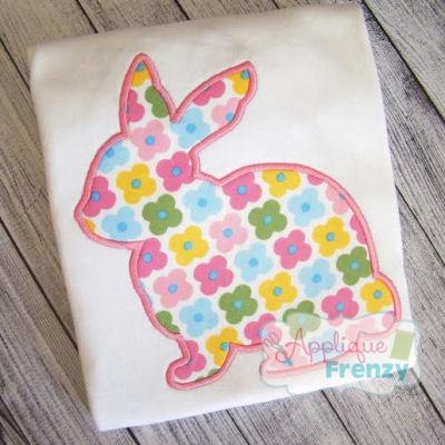 Bunny Silhouette Applique Design-