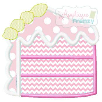 Cake Slice Applique Design-cake slice, birthday cake, 1st bday, cake in face, cake