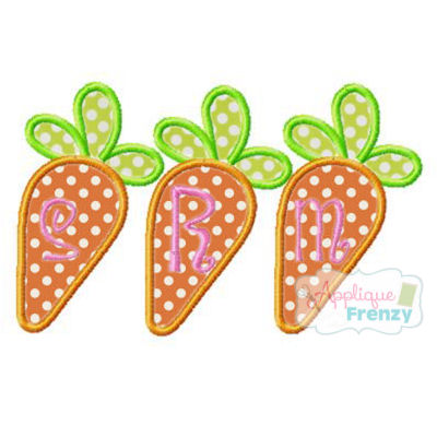 Carrot Trio Applique Design-