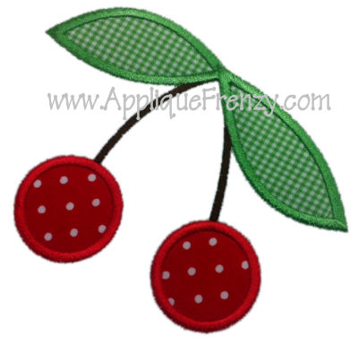 Cherry Applique Design-