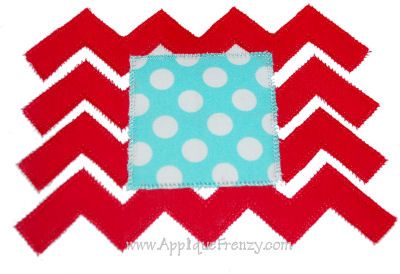 Chevron Monogram Applique Design-