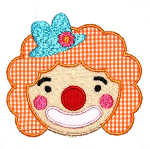Clown Applique Design-clown, circus