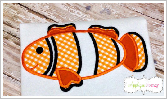 Clown Fish Applique Design-