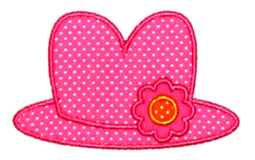 Clown Hat Applique Design-clown, circus, clown hat, barnum and bailey