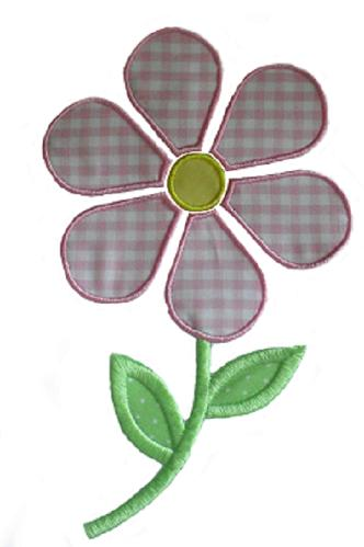 Stemmed Daisy Applique Design-flower, daisy, stem