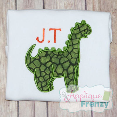 Long Neck Dinosaur Applique Design-