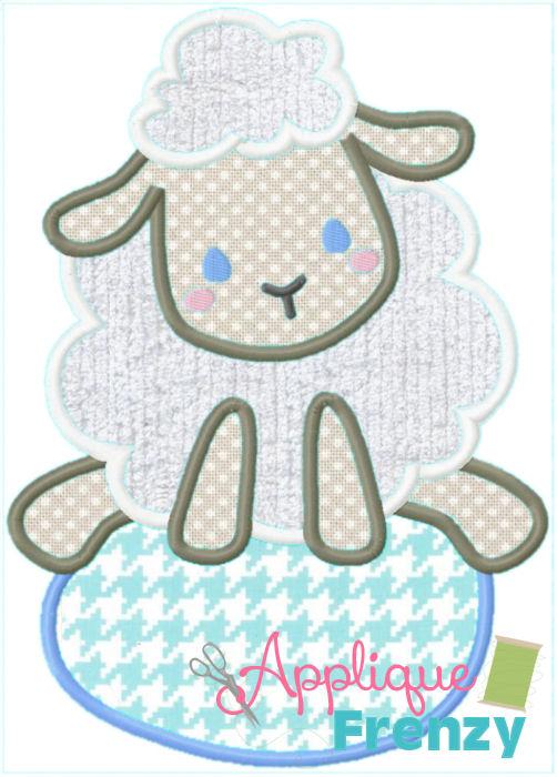 Egg-Ster Sheep Applique Design-egg, bunny, easter bunny, rabbit, egg hunt, easter applique, bunny applique