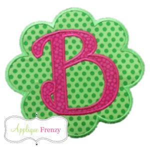 The Emily Scallop Patch Applique Design-scallop, patch, flower patch, applique, embroidery, cute, trendy