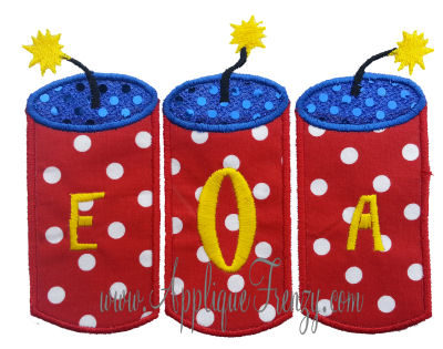 Firecracker Trio Applique Design-