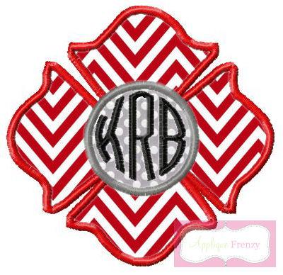 Firefigher Symbol Applique Design-
