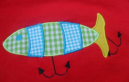 Fishing Lure Applique Design-fishing lure, boys, summer, fishing