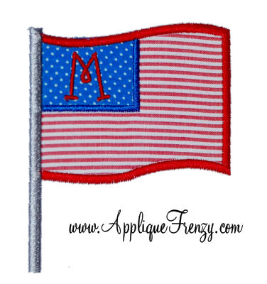 Flag Applique Design-flag