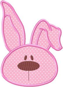 Floppy Ear Bunny Applique Design-floppy ear bunny