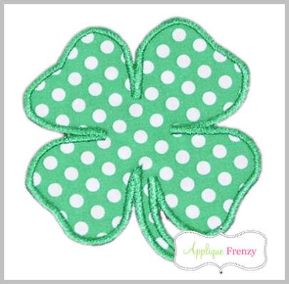 Four Leaf Clover Applique Design-