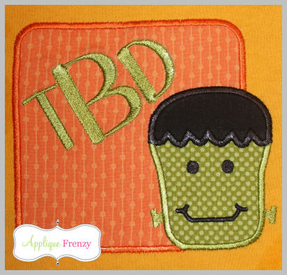 Frankie Square Patch Applique Design-