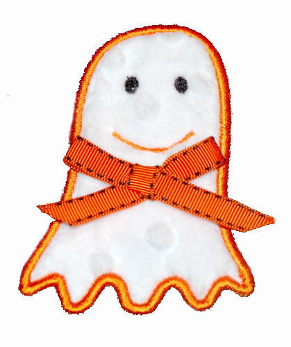 friendly ghost Applique Design-ghost, haloween, candy, trik or treat