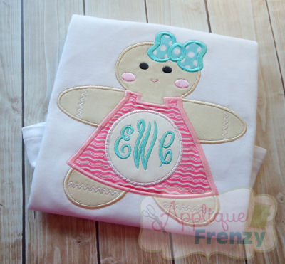 Gingerbread Girl with Circle Belly Design-
