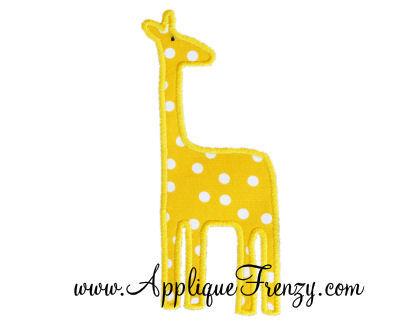 Simple Giraffe Applique Design-