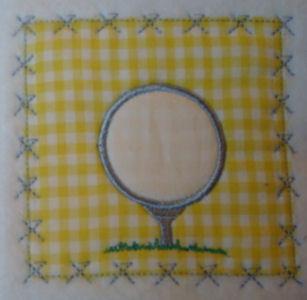 Golf Ball Patch Applique Design-golf ball, tee, girl, boy