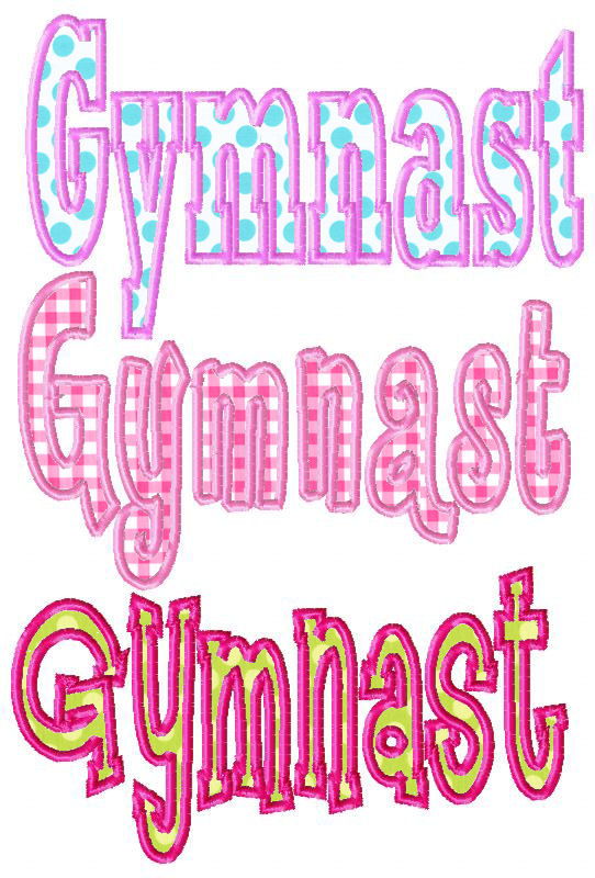 Gymnast Applique Design-
