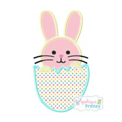 Hatched Bunny Egg Applique Desig-