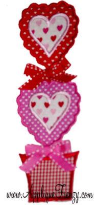 Heart Topiary Applique Design-