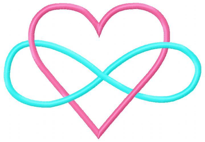 heart infinity embroidery design. Black Bedroom Furniture Sets. Home Design Ideas