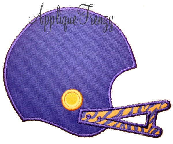 Football Helmet Applique Design-