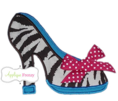 High Heel Applique Design-