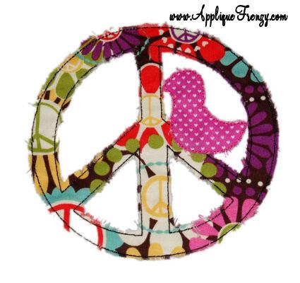 Hippie Chick Applique Design-