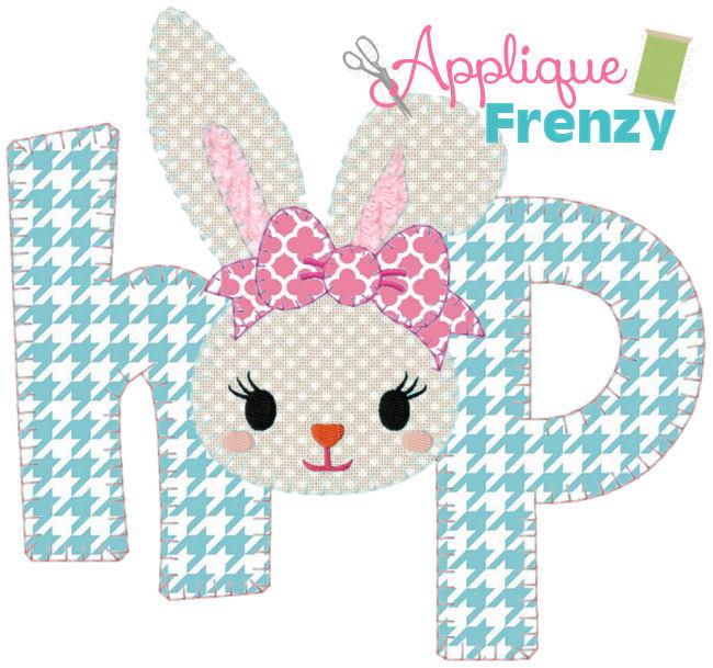 Hop Bunny Applique Design-easter, bunny, easter applique, bunny applique, easter basket, easter hop, rabbit