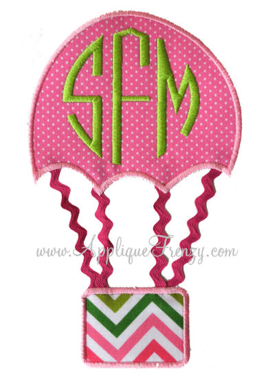 Embellished Hot Air Baloon Applique-