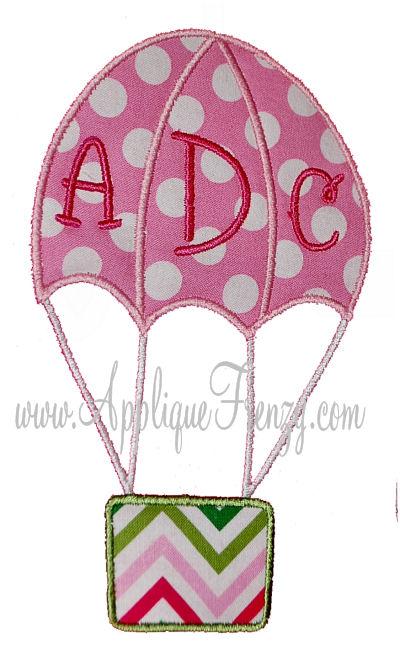 Hot Air Balloon Applique Design-