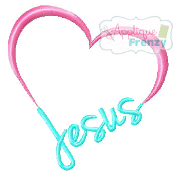 Jesus Heart Embroidery Design-jesus, easter, resurection, love jesus,