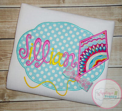 Kite Oval Patch Applique Design-
