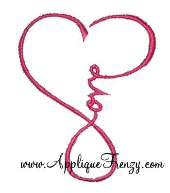 Love Heart Embroidery Design-