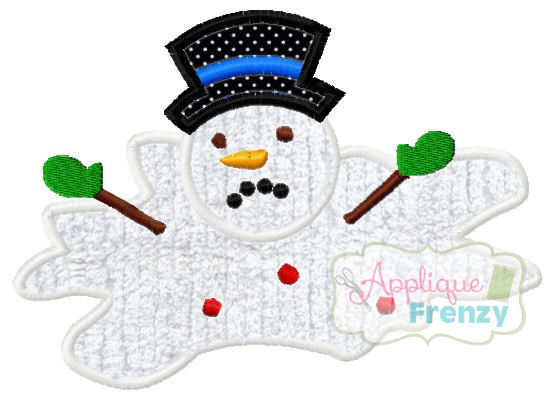 Melted Snowman Design Design-snowman, christmas, winter, cold, santa, elf