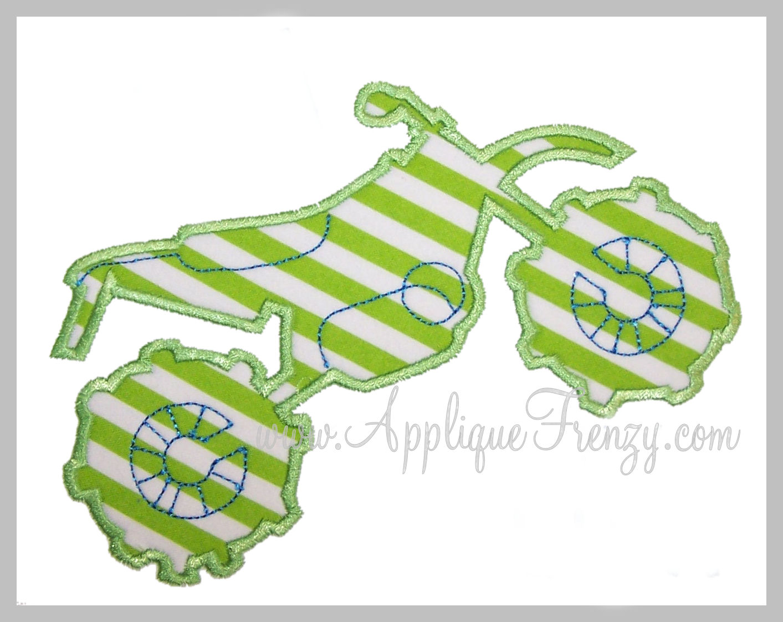 Motorbike Applique Design-motorbike, boys, transportation, bike, motorcycel