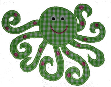 Octopus Applique Design-octopus, summer, sealife
