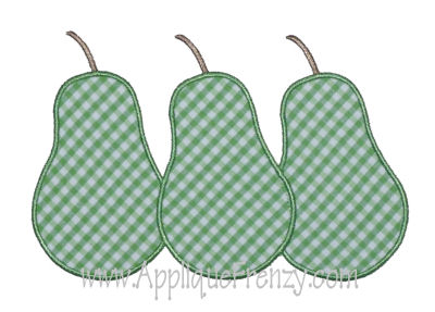 Pear Trio Applique Design-