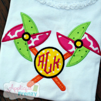 Pinwheel Crossed Applique Design-