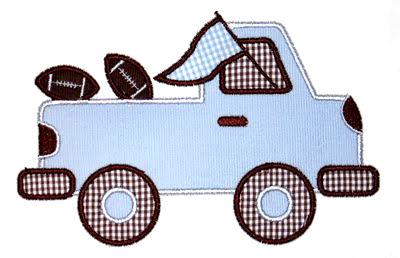 Pregame Pickup Truck Applique Design-football, school spirit, auburn, alabama, pregame truck, tailgate.