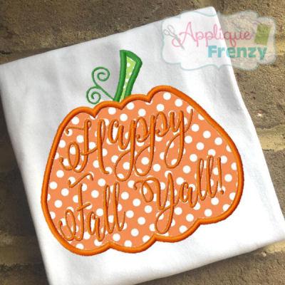 pumpkin patch applique design