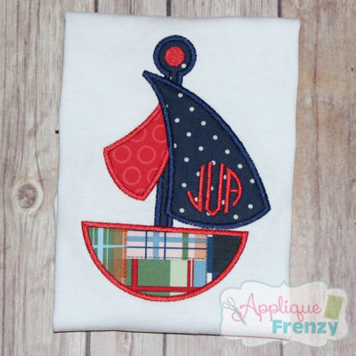 Summer Fun Sailboat 1 Applique Design-