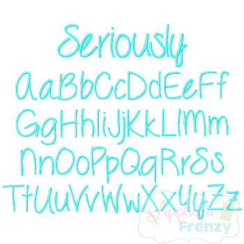Seriously Embroidery Font-font, embroidery, seriously, itch 2 stitch, itch to stitch font, ttf, embroidery font