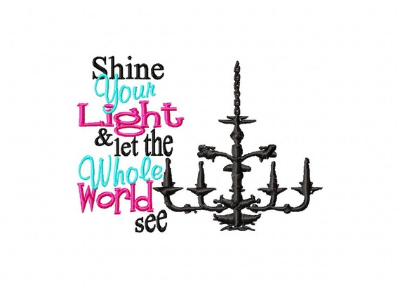 Shine Your Light horizontal Design-religious , cross, christian